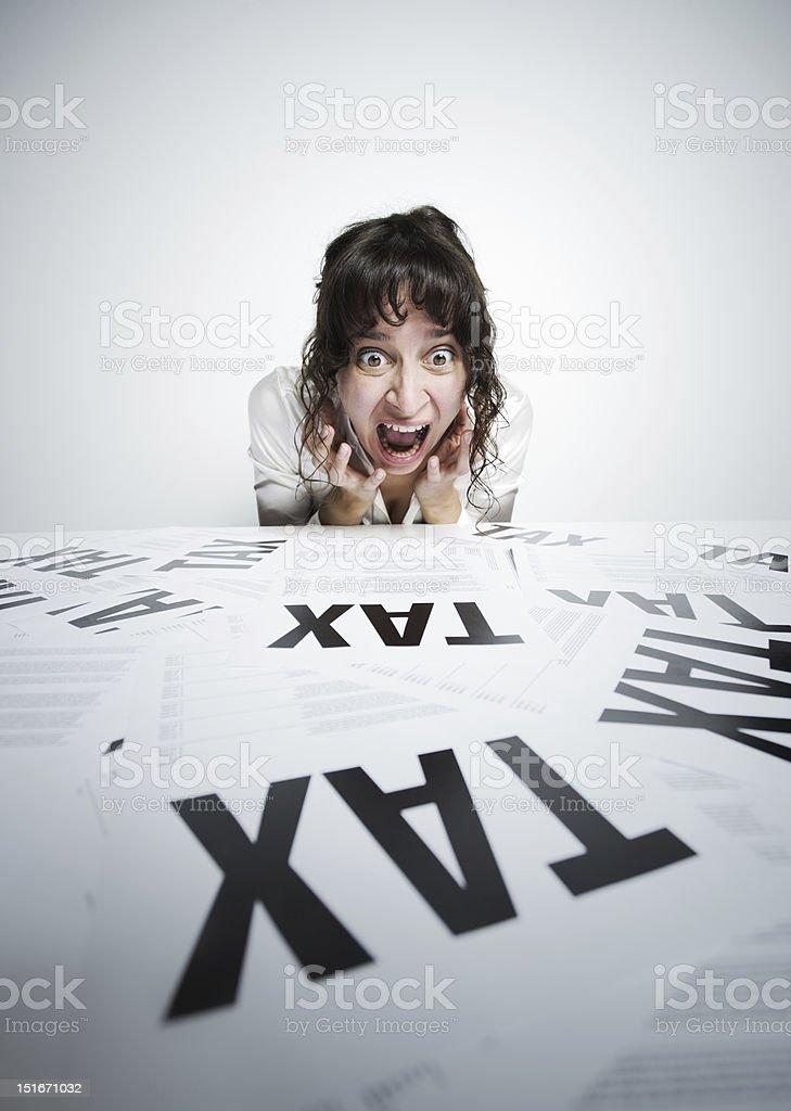 Taxes scary stock photo