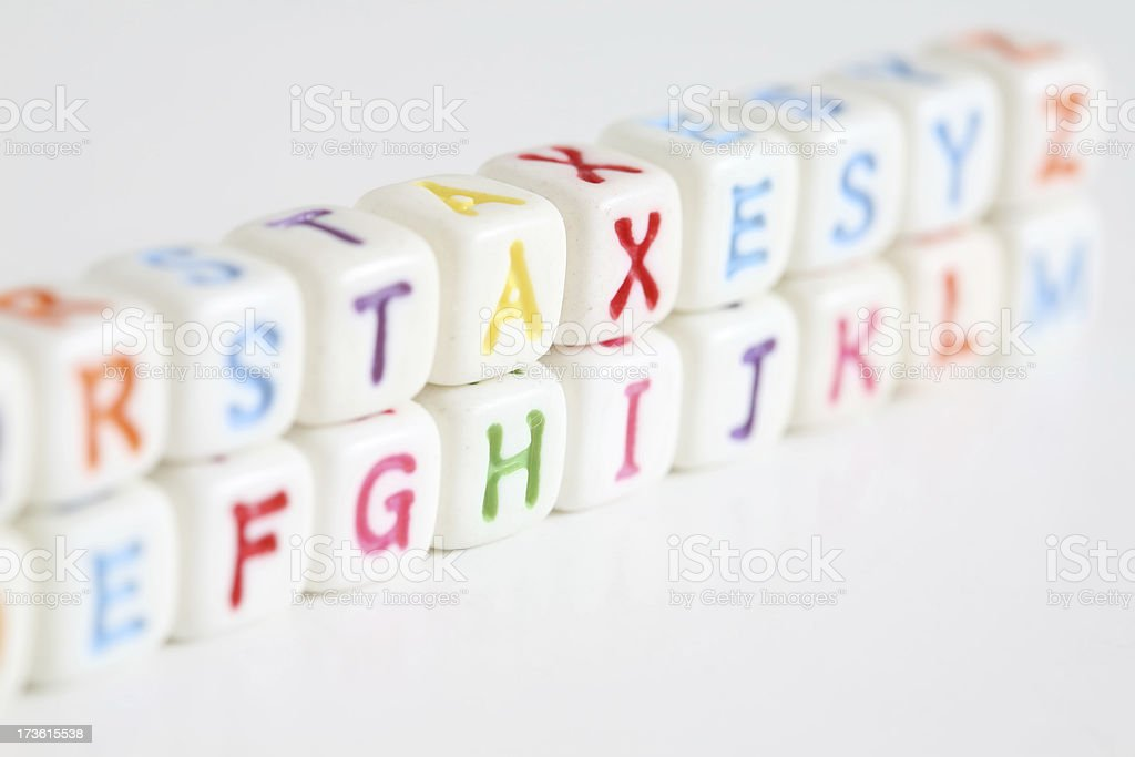 Taxes Spelled Out royalty-free stock photo