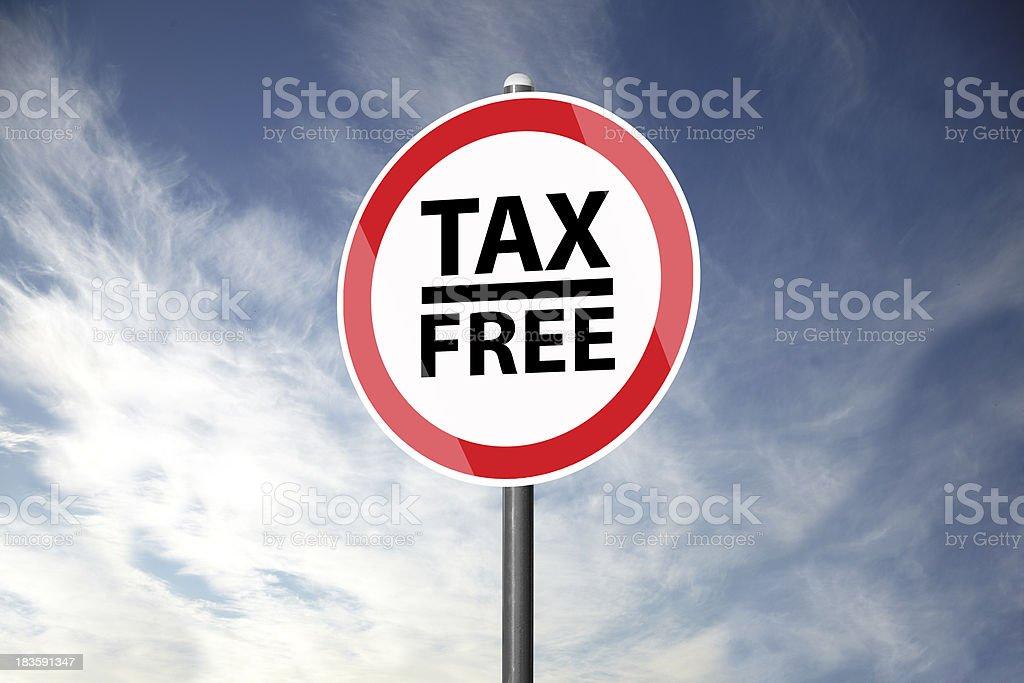 Tax-Free royalty-free stock photo