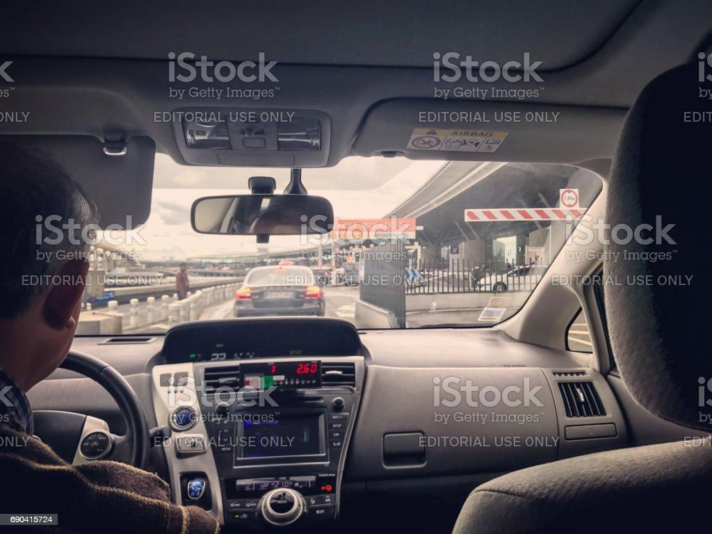 Taxi à son arrivée à Roissy Charles de Gaulles Airport à Paris - Photo
