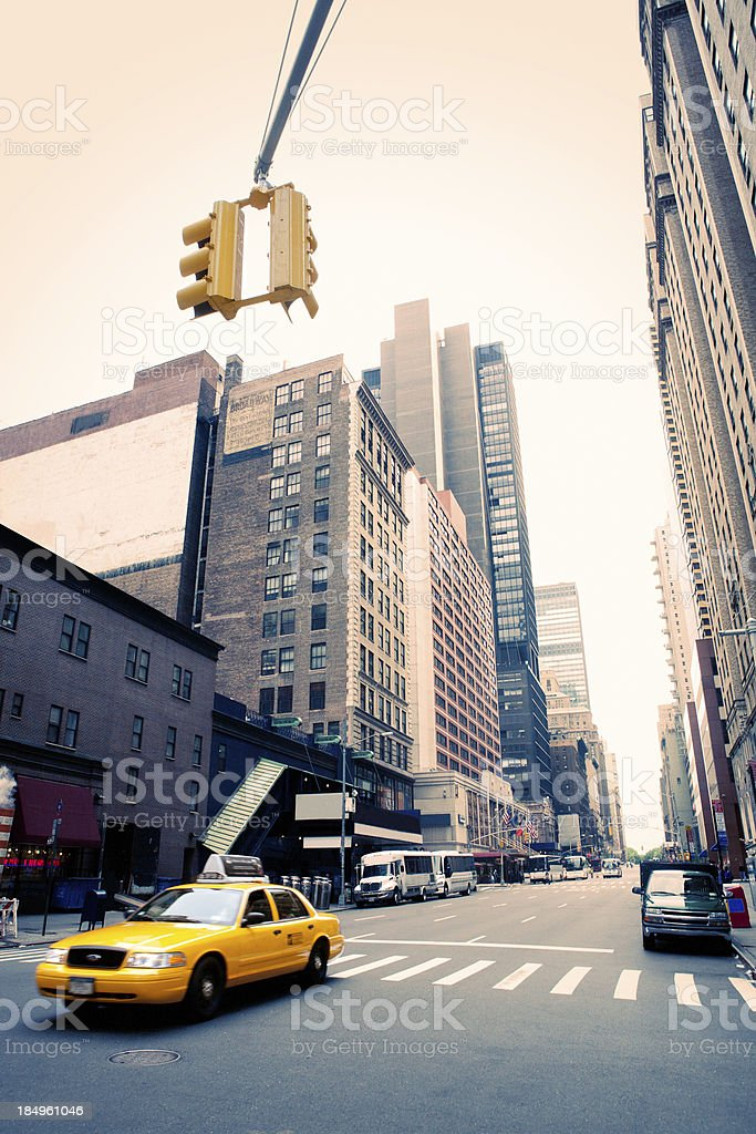 Taxi cab in New York City stock photo