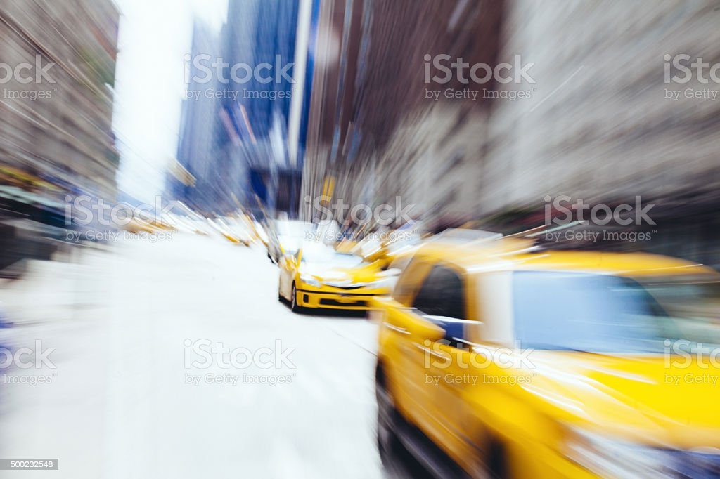 Taxi cab in New York stock photo
