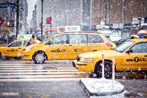 istock Taxi Cabs in New York 458098629