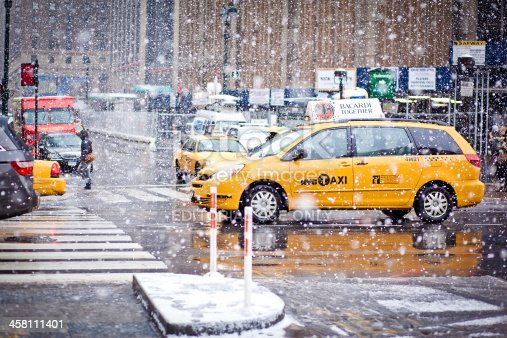 istock Taxi Cabs in New York 458111401