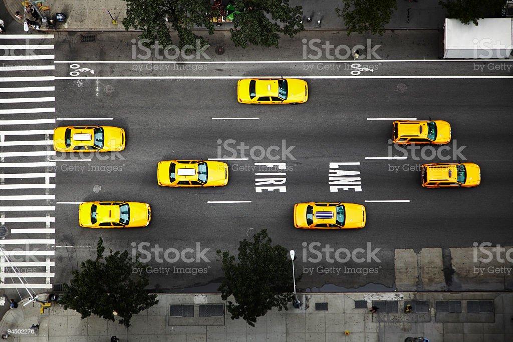 Taxis in NYC, Ansicht von oben – Foto