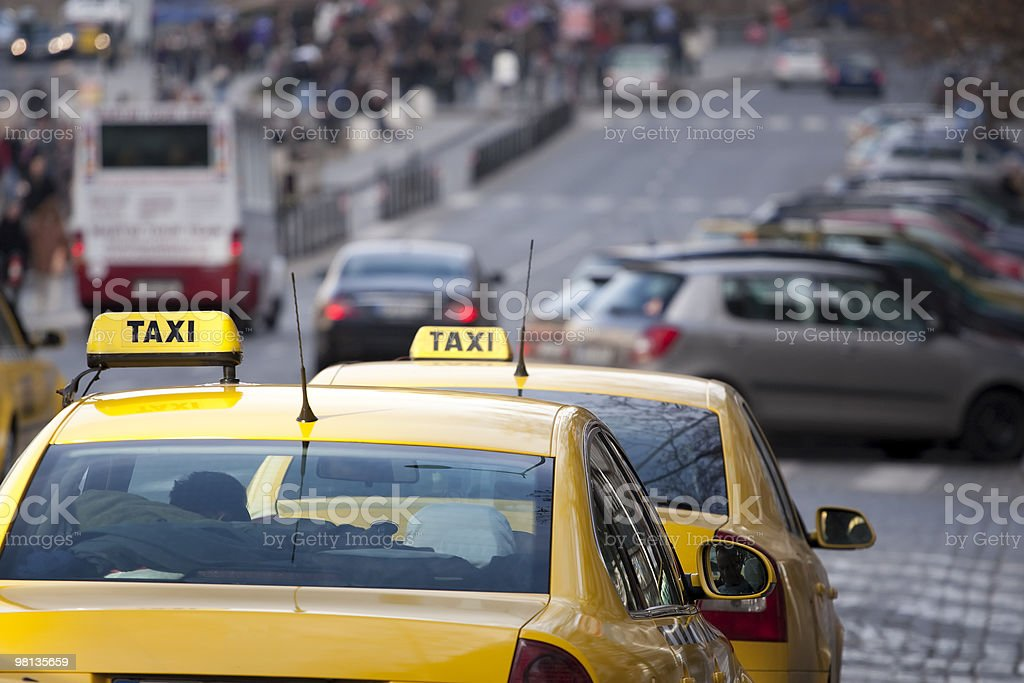 Taxi cabs royalty-free stock photo
