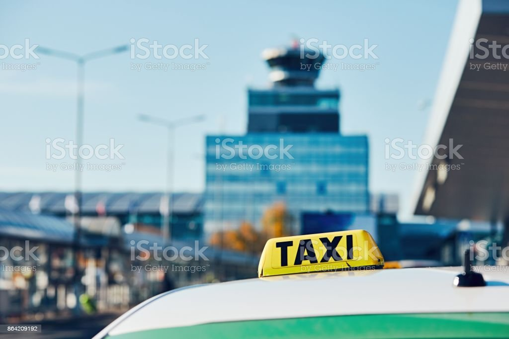 Taxi car on the street royalty-free stock photo