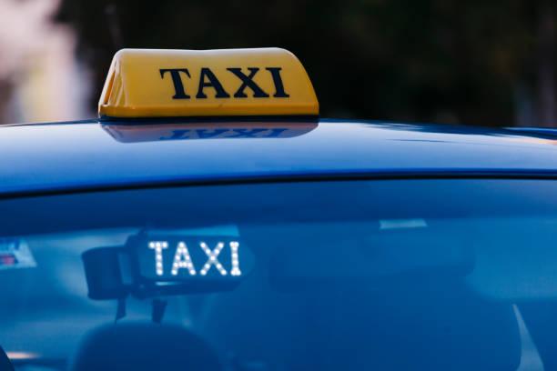 Taxi Car Sign stock photo