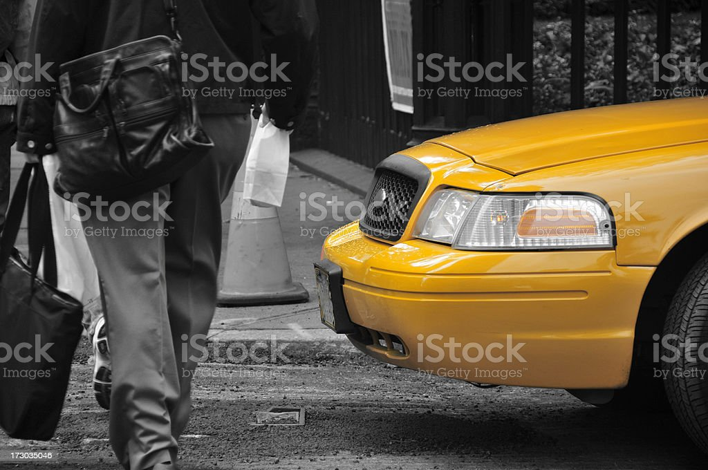 Taxi Crossing stock photo