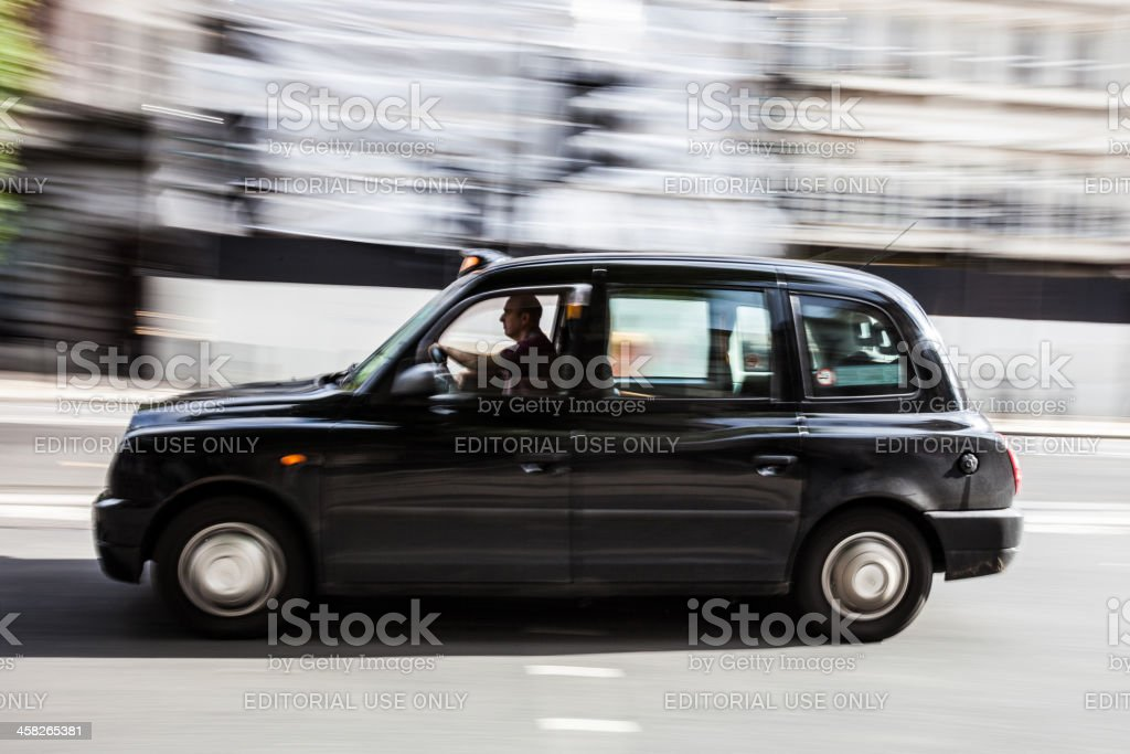 Taxi driver in London stock photo