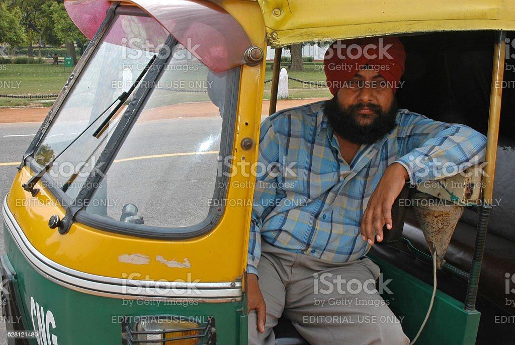 Taxi driver in New Delhi - foto stock