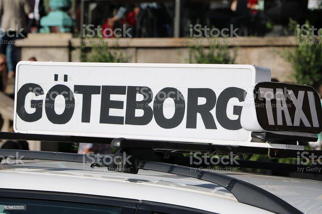 Taxi Gothenburg, Sweden Scandinavia - foto de stock