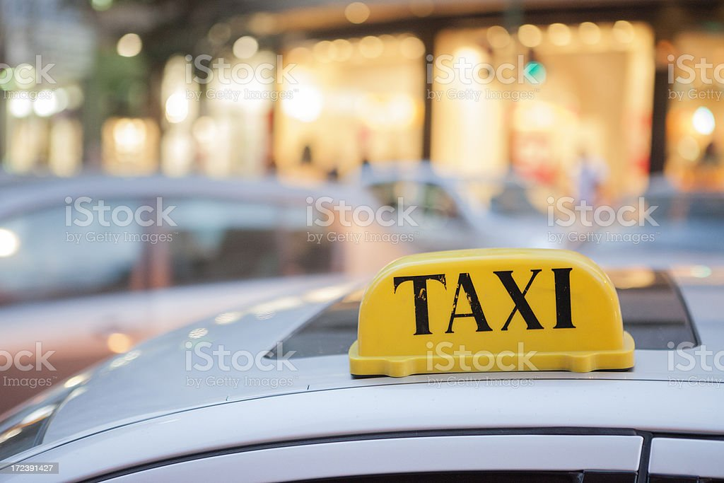 Taxi in Beirut, Lebanon royalty-free stock photo