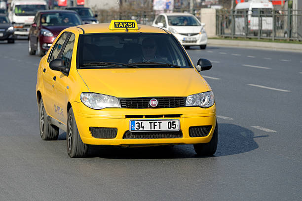 Taxi in Istanbul stock photo