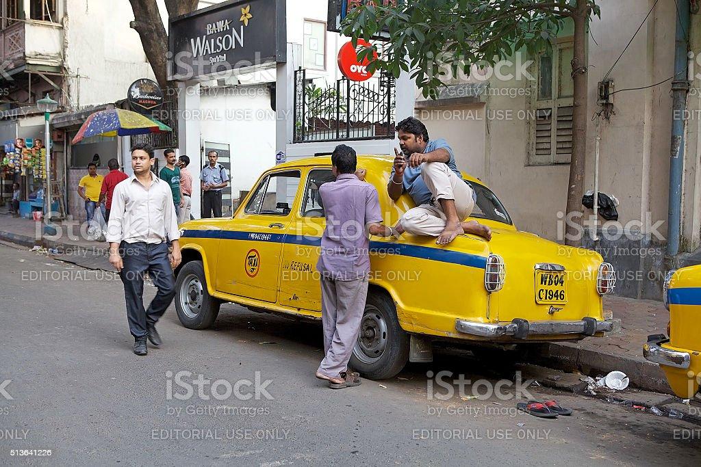 Taxi in Kolkata, India stock photo