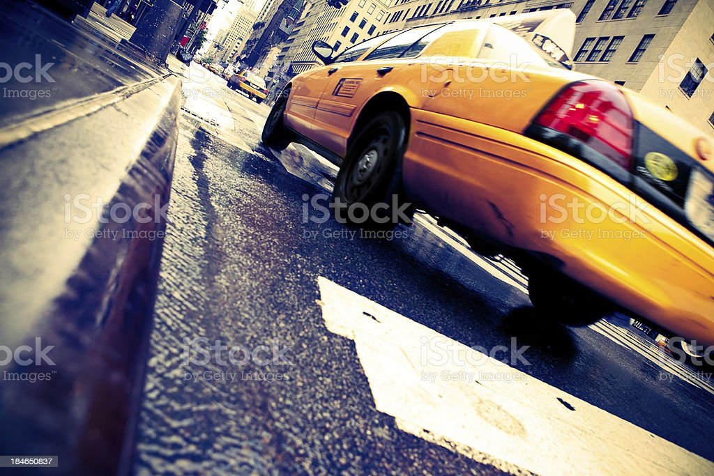 Taxi in New York City royalty-free stock photo