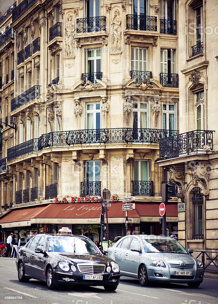 Taxi in Paris royalty-free stock photo