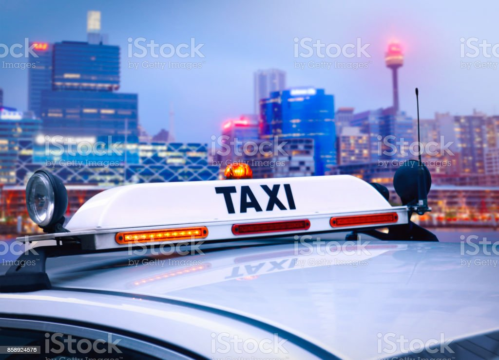 Taxi in Sydney stock photo