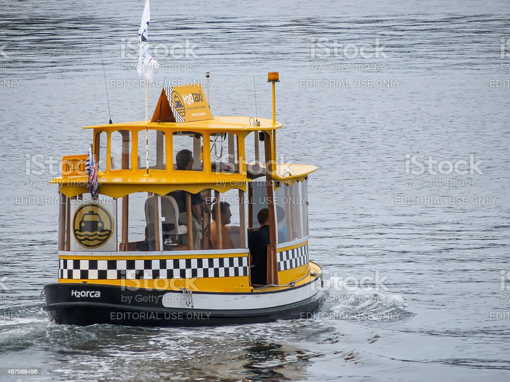 H2O Taxi in Victoria stock photo