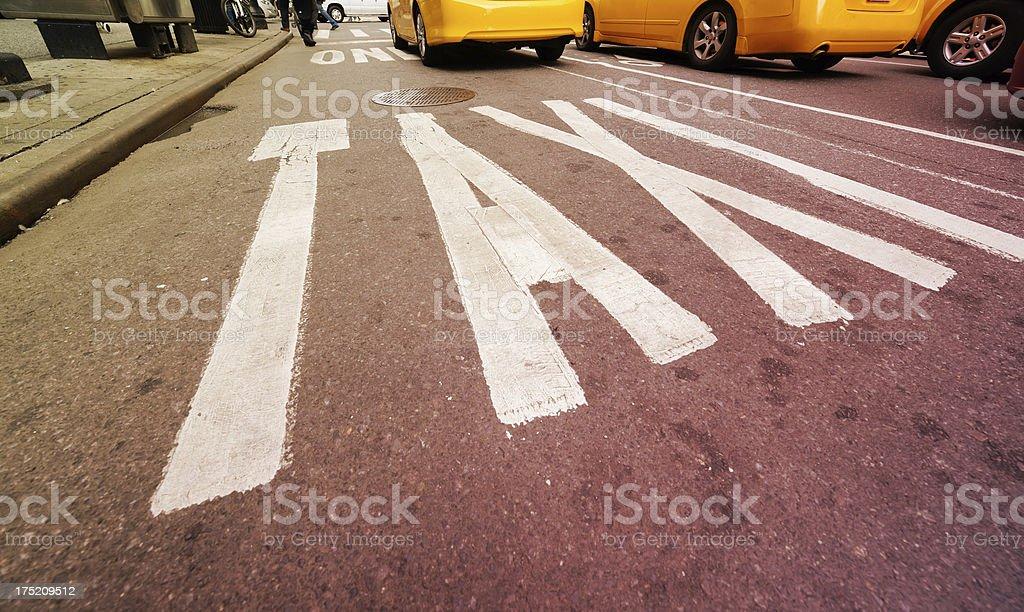 Taxi lane royalty-free stock photo