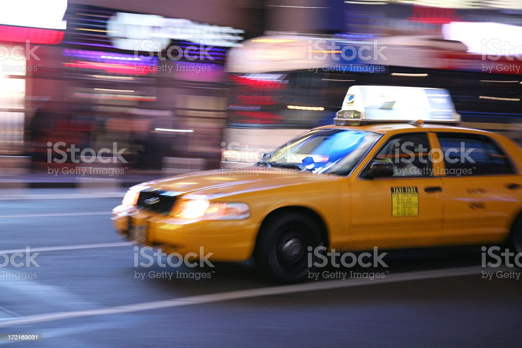 Taxi Motion royalty-free stock photo
