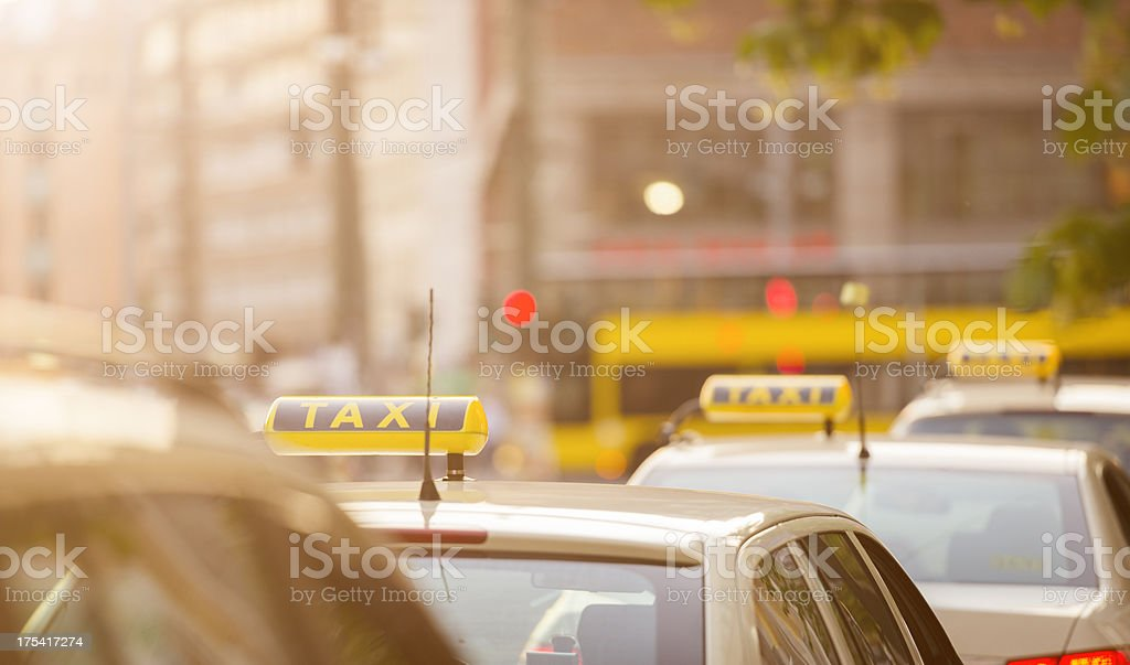 Taxi on queue in Berlin -  Germany royalty-free stock photo