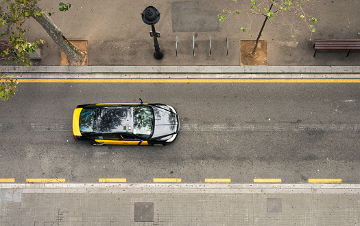 Taxi on the move