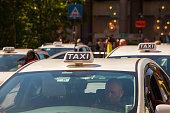 istock Taxi parking in Milan 1214694005