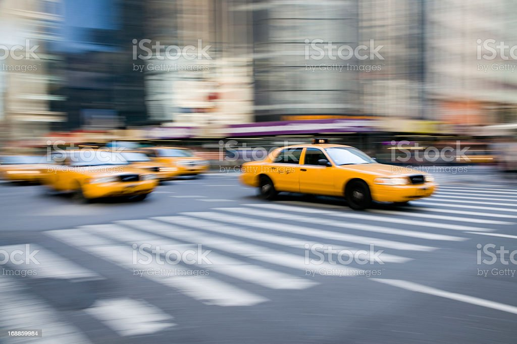 NYC Taxi royalty-free stock photo