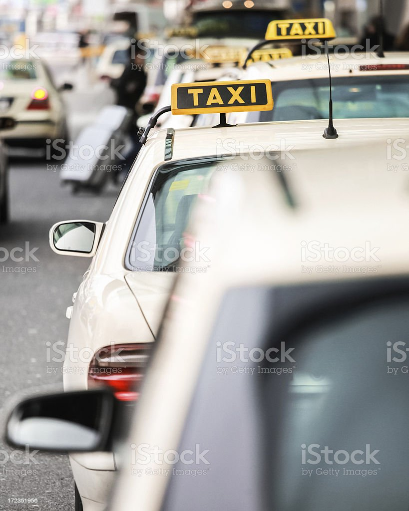 Taxi royalty-free stock photo