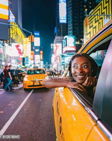 istock Taxi Ride in New York City 910576542