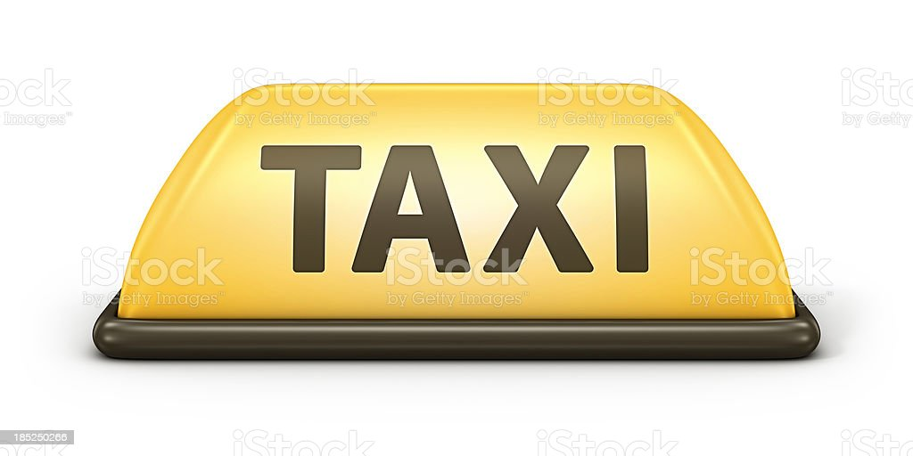 taxi sign royalty-free stock photo