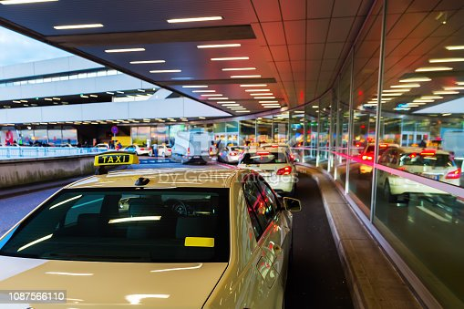 taxi station at the airport Cologne Bonn, Germany