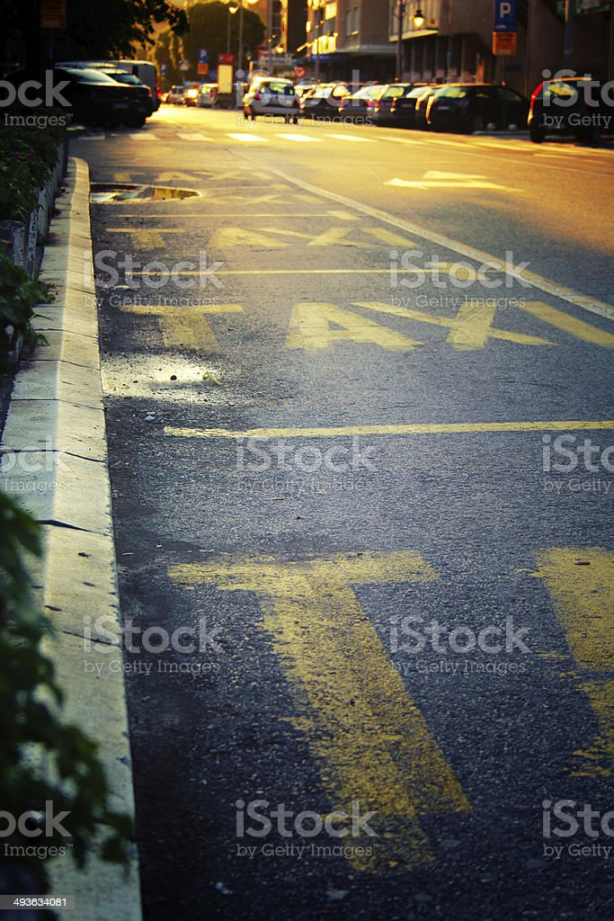 Taxi stations royalty-free stock photo