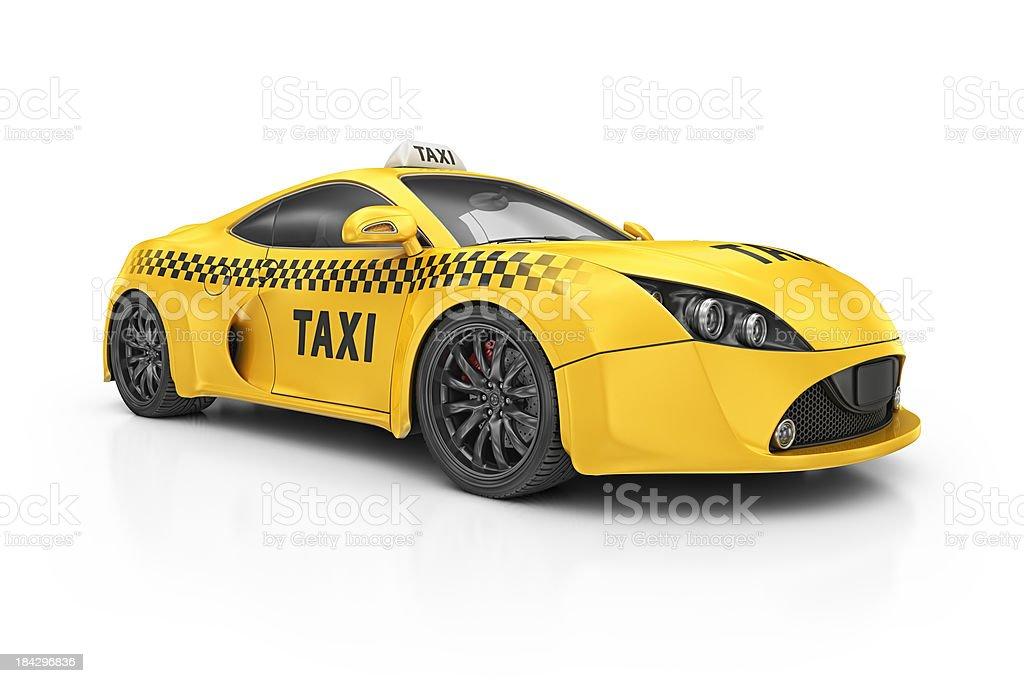 taxi supercar royalty-free stock photo