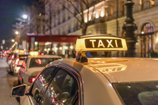Taxi_Hotel stock photo