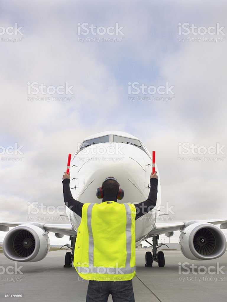 Taxiing in a plane (XXXL) stock photo