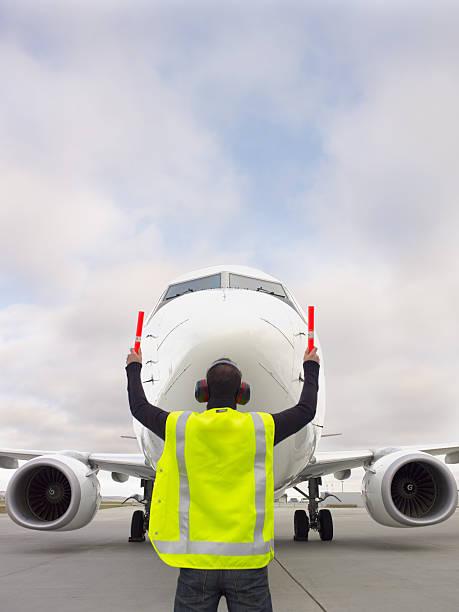 Taxiing in a plane (XXXL) stock photo