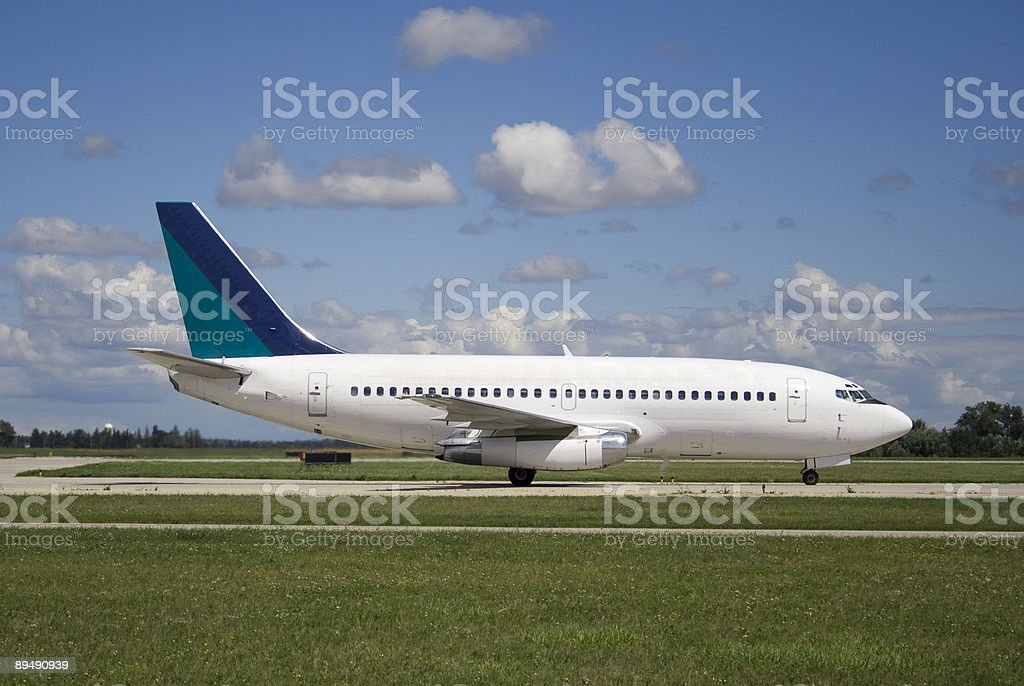 Taxiing Jetliner royalty-free stock photo