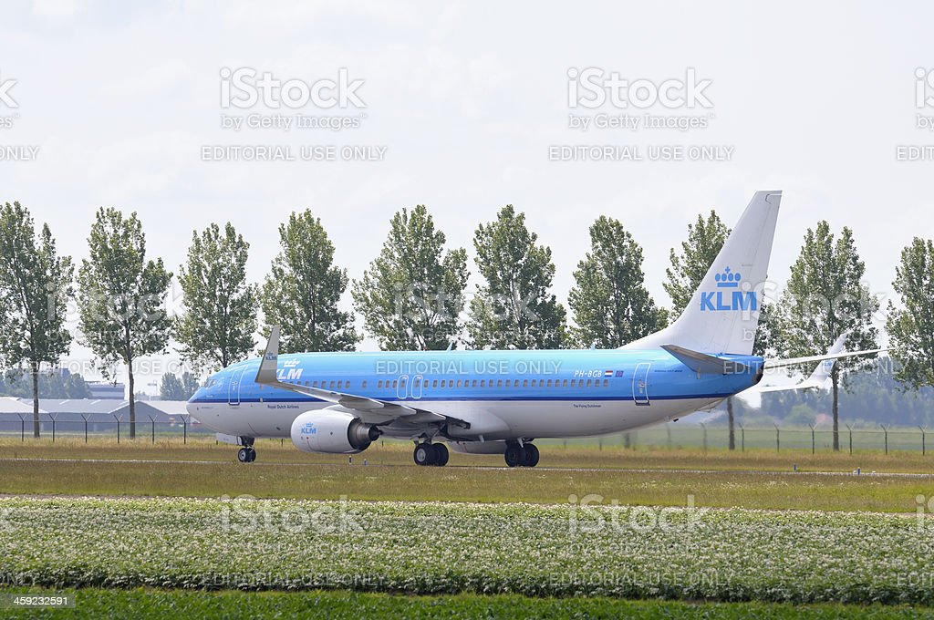 KLM taxiing stock photo
