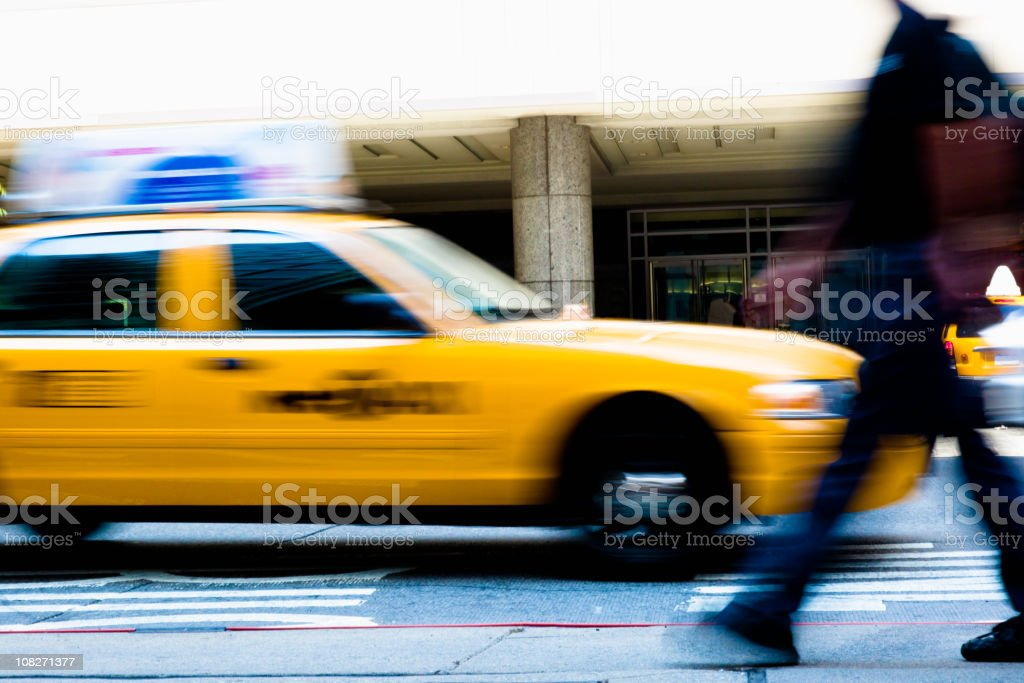 Taxis and Commuter NYC royalty-free stock photo