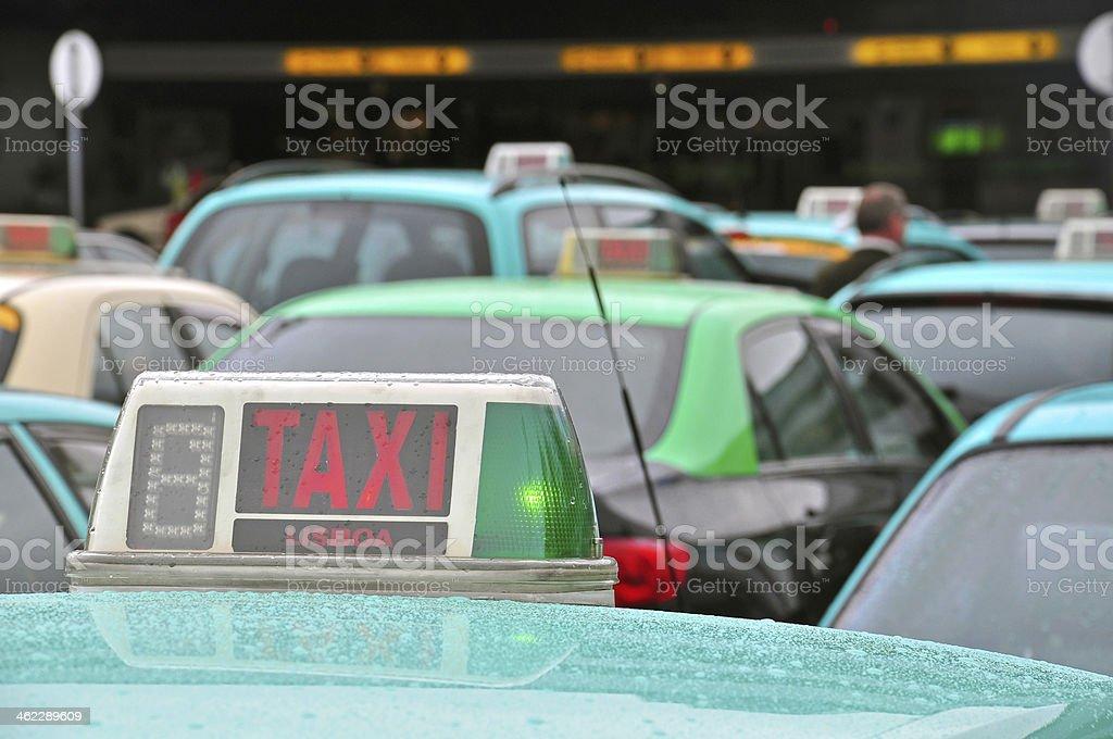 Táxis do aeroporto - foto de acervo