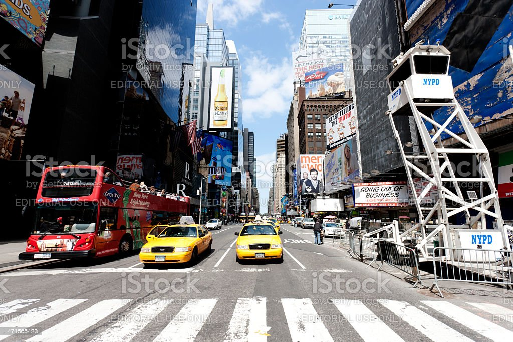 Taxis in Manhattan, New York City royalty-free stock photo