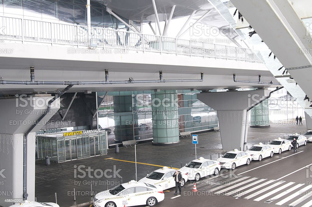 Taxis in the Kyiv Airport Boryspil royalty-free stock photo