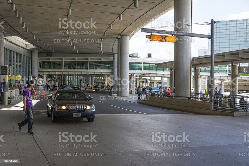 Taxis in Toronto's Pearson International Airport stock photo