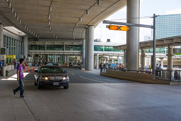 taxis in toronto's pearson international airport - limousine service stock photos and pictures
