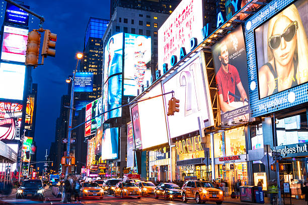 Les Taxis sur 7th Avenue at Times Square, New York City  - Photo