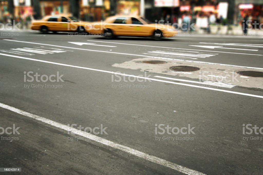 NYC taxis royalty-free stock photo