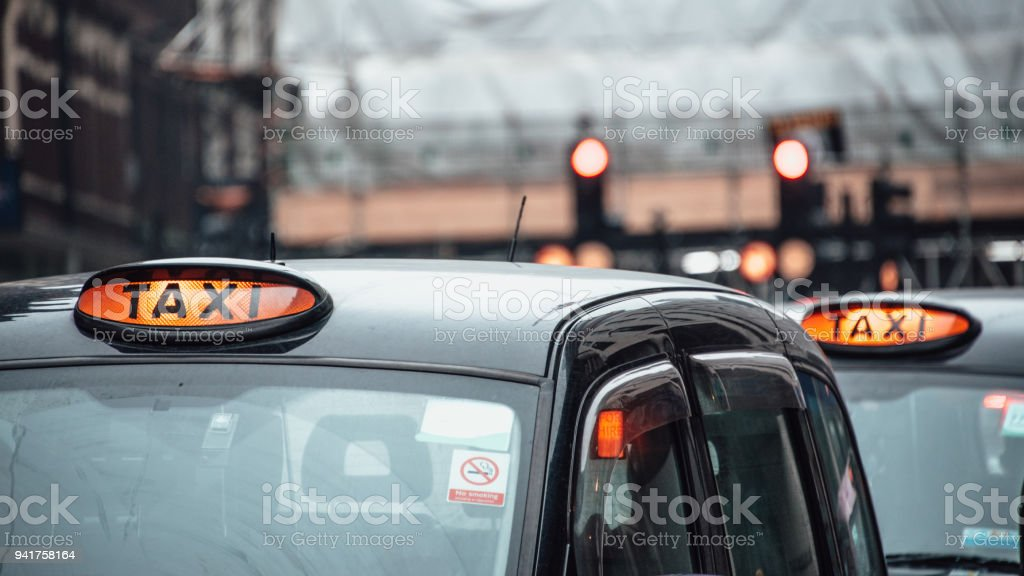 UK taxis - foto stock
