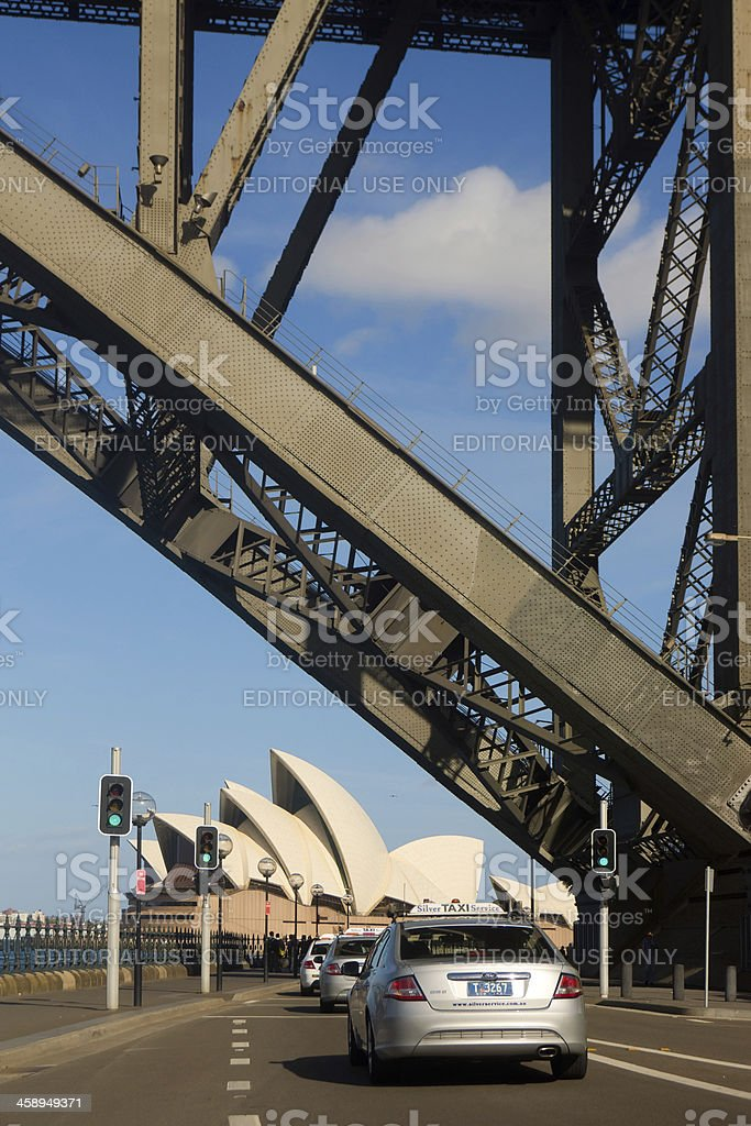 Taxis to Sydney royalty-free stock photo